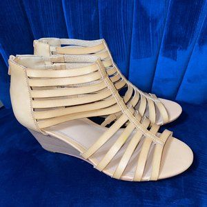 Open-toed strappy heeled sandals